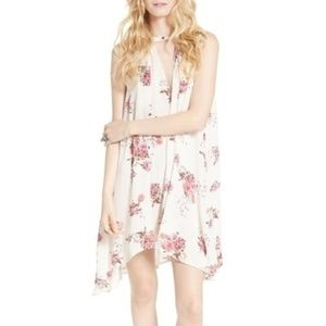 Free People Floral Keyhole Mini-Dress with Pockets